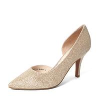 Tata/他她秋季专柜同款时尚优雅亮片布女鞋