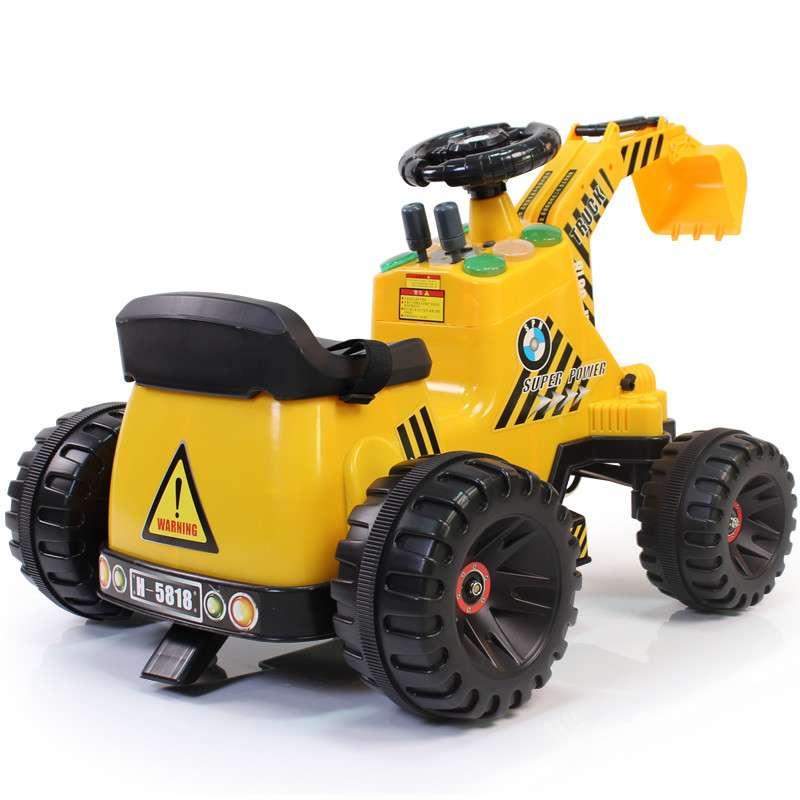 孩子家 大号挖土机 可坐可骑 挖掘机 儿童电动车 工程车5818
