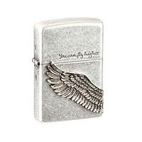 Zippo韩版仿古银天使之翼打火机(天使之翼)