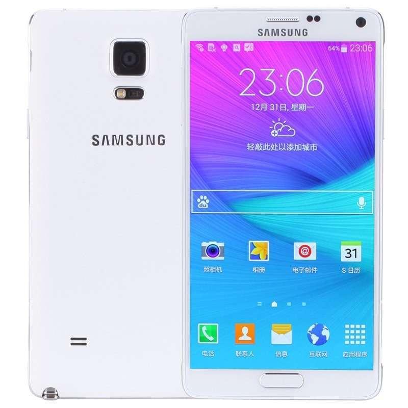 三星 Galaxy Note4 (N9109W) 幻影白 电信4G手机 双卡双待