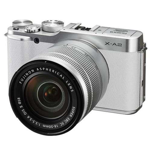 富士(FUJIFILM)X-A2 微单电套机(XC16-50II)经典银 APS-C 自拍翻转屏 WiFi XA2时尚复古(白色)