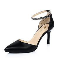 Belle/百丽油蜡羊皮春季中空女单鞋