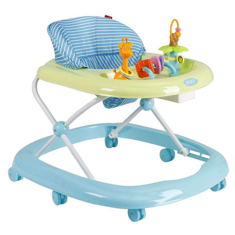 好孩子Goodbaby可调节折叠婴儿学步车多功能玩具助步车粉色