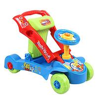 宝宝学步手推车可调速婴儿多功能U型手推滑行车带音乐儿童宝宝玩具 一车两用可推可骑(蓝色)
