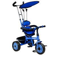 乐卡(Lecoco)儿童三轮脚踏推车2015款新T306平蓬山地轮(蓝色)