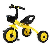乐卡(Lecoco)儿童三轮车脚踏车2015新款运动型(黄色)