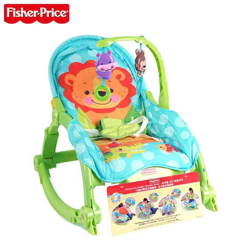 费雪牌 婴儿可爱动物多功能轻便宝宝摇椅 座椅玩具
