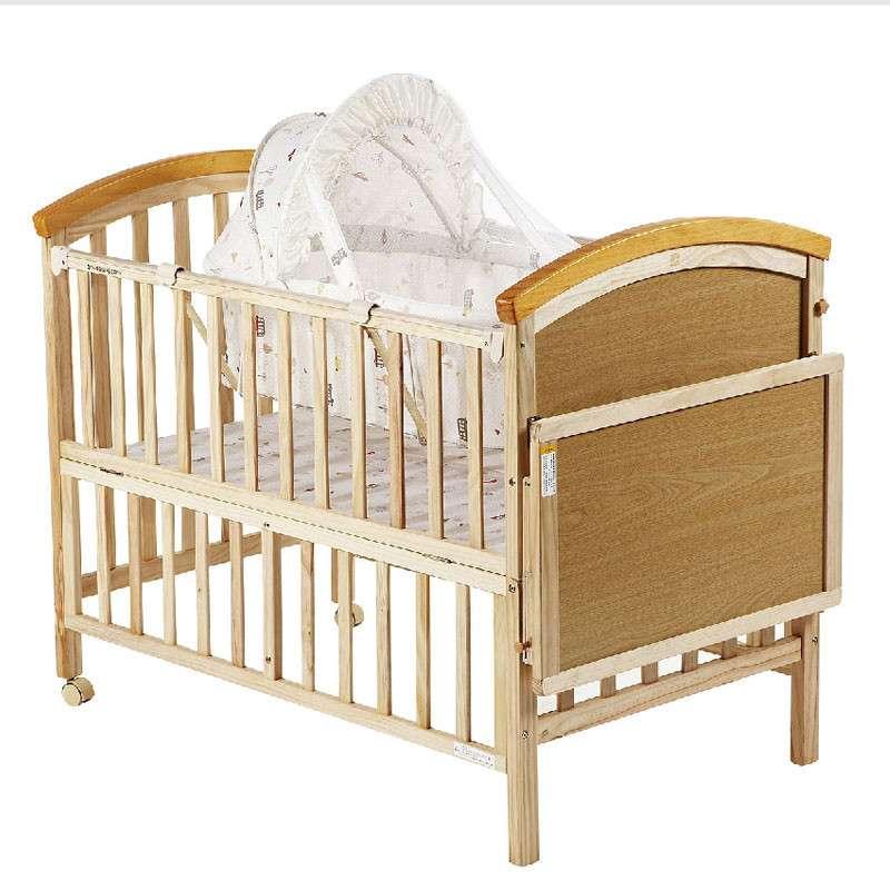 好孩子(Goodbaby)多功能高档环保实木摇篮婴儿床