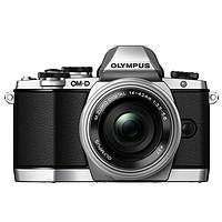 奥林巴斯(OLYMPUS) E-M10 微单相机 (14-42mm)(手动镜头套机,银色)