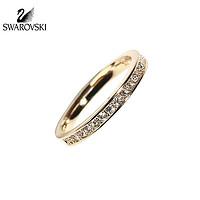 SWAROVSKI施华洛世奇 时尚礼品礼物礼盒情人节礼物金色女式女士戒指指环对戒婚戒(52号,金色)