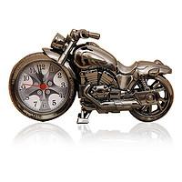 绎美 创意钟表礼品 摩托车闹钟 四款式摩托车闹钟 青年节礼品同学赠送礼物创意生日礼物(银色)
