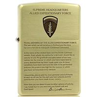 正品芝宝zippo防风打火机 纯铜限量远征盟军 艾森豪威尔辞职宣言(艾森豪威尔辞职宣言)