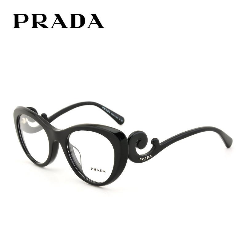 PRADA/普拉达眼镜框 OPR06QVF 板材眼镜架 优雅女款光学框架眼镜