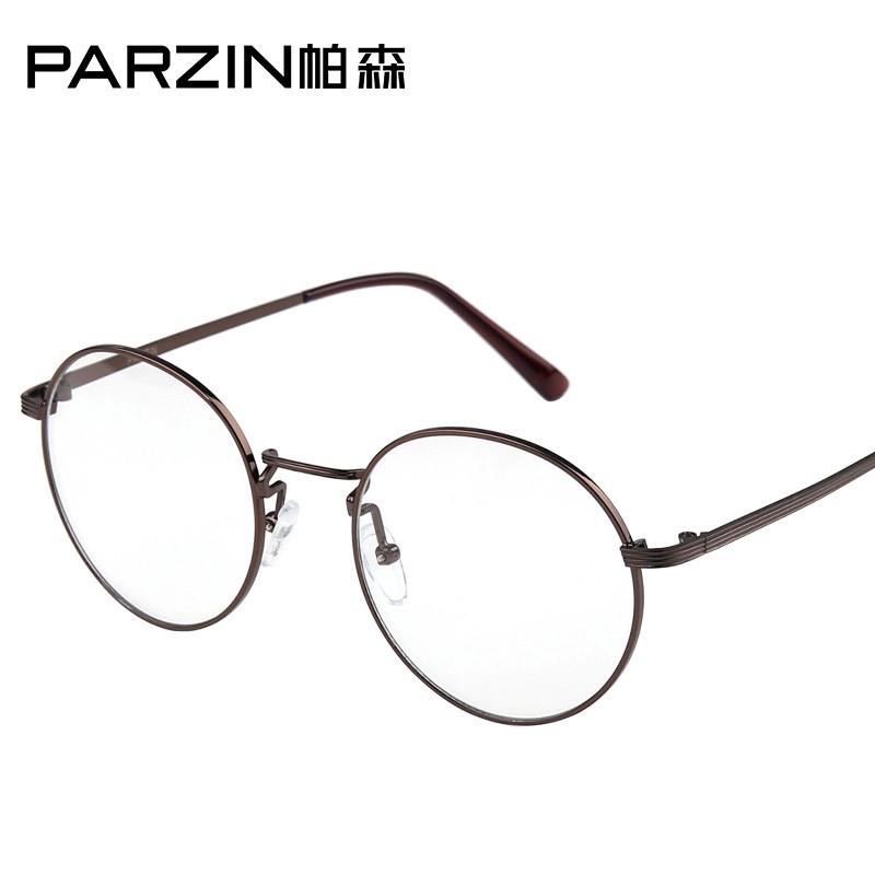 帕森男女圆形复古平光镜太子眼镜架配眼镜镜框配近视眼镜镜架
