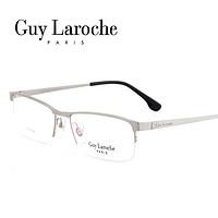 姬龙雪GL0516商务纯钛半框大码男士枪色近视框架眼镜(黑色)