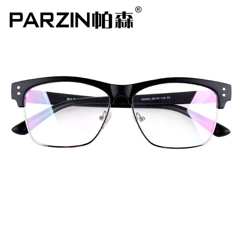 帕森 新款眼镜架潮半框男女TR90 复古眼镜架可配近视