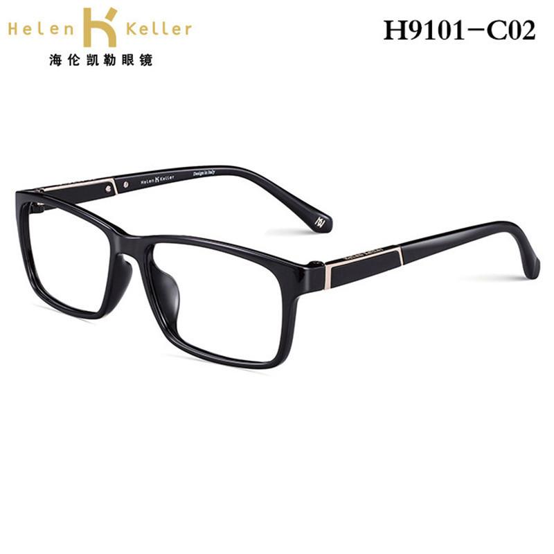 新款海伦凯勒眼镜架男全框板材近视眼镜框
